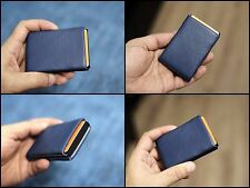 NERO Leather Wallet Handmade The Most Thin Slim Compact Minimalist RFID Blocking