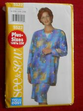Women's Easy Jacket & Skirt Butterick 5522 Sizes 16W - 32W  SEE & SEW