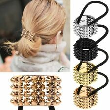 Punk Gothic Metal cup Hair Cuff Clip Ponytail Tie Holder Hair Band ELASTIC WRAP