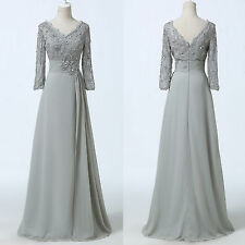 FREE SHIP~ LONG Mother Of The Bride Formal Evening Wedding Guest Maxi Prom Dress