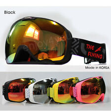 The Flying Winter Goggle Double Lens Ski Snowboard Black Skate Unisex Adults