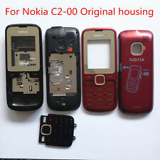 NEW original OEM Nokia C2-00 full housing front back case cover keypad black red