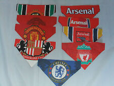 FOOTBALL CLUBS REVERSIBLE DOG BANDANAS..inc MAN UTD ARSENAL SUNDERLAND CHELSEA