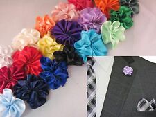 Men's Boutonniere Flower Lapel Pin  - Assorted Colors to Choose From!