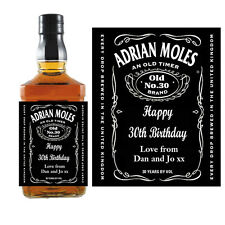 PERSONALISED TENNESSEE Whiskey/Whisky Bourbon BOTTLE LABELS Birthday Gift B008