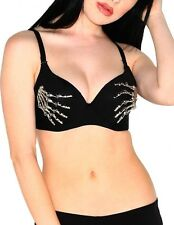 iHeartRaves Skeleton Hands Rave Bra