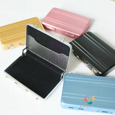 Tiny Aluminum Safe Suitcase Briefcase Business Credit Bank Card Holder Case New