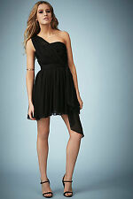 Topshop Kate Moss One Shoulder Chiffon Dress Party Cocktail UK 6 8 10 12 BNWT