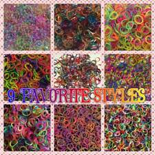 6000 NEW Camouflage Moody UV Neon Glitter Candy 20+ Styles Rainbow Rubber Band