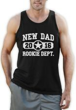 New Dad 2016 Rookie Dept. Singlet New Baby Father's Day Daddy Gift Gym Tank Top