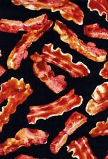 FOOD COTTON FABRIC! Bacon, Popcorn, Fruit, Vegetables, Sweets! Prices Vary!