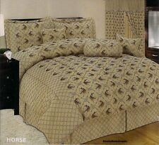 Western Horse Cowboy Comforter Bedding 7pc Set Heavy Jacquard OVER SIZE