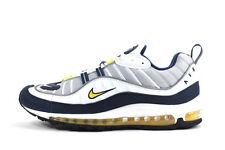 Nike Men's Air Max 98 Shoes NEW AUTHENTIC Wolf Grey White Mid Navy 640744-004