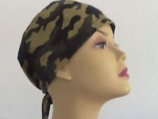 Camouflage skullcaps for women or men. Surgical scrub hats/Chemo hats Size M