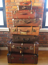 Various vintage retro shabby chic/ props/ display/ storage/ luggage suitcases