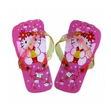 Hello Kitty Flip Flop Kids Childrens Girls Pink Thongs - Sizes 4 - 11 years old