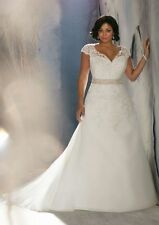 Plus Size White Ivory Wedding Dress Bridal Gowns Custom 14 16 18 20 22 24 26 28
