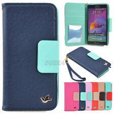 PU Leather Flip Wallet Card Holder Phone Handbag Case For iPhone /Samsung Galaxy