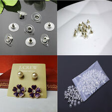 Only 0.99! 1X 50pcs Earring Backs Stopper Jewelry Findings Gold/Silver 11*6mm
