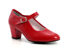 Spanish Flamenco Red Dance Shoes Made in Spain ALL SIZES