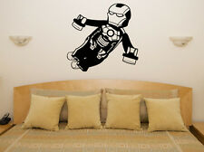 Lego Iron Man Marvel Superhero Children's Bedroom Decal Wall Art Sticker Picture