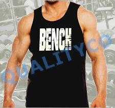Men's Bench Weight Lifting Workout Bodybuilding Gym Black Muscle Tank Top
