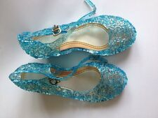 Girl's Cosplay Frozen Elsa & Anna  Fancy Dress up Blue Jelly Sandal Shoes
