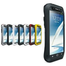 LOVE MEI Waterproof Aluminum Glass Case Cover For Samsung Galaxy Note2 Note3