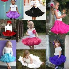 Best~Baby Kids Girls Tutu Skirt Dancewear Chiffon Pettiskirt Princess Petticoat