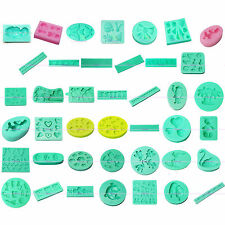 3D Silicone Clay Cookie Cheese Icing Mold Fondant Cake Sugarcraft Decor 42 Style