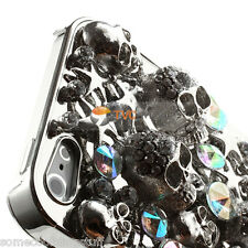 NEW DELUX COOL LUXURY BLING SILVER SKULL DIAMANTE CASE FOR VARIOUS MOBILE PHONE