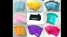 50 NEW -4x8 Bubble Mailers, Any Color Option, Padded Mailing/Shipping Envelopes