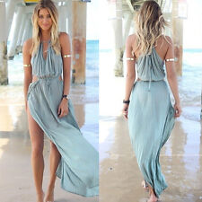 2015 New women casual sexy solid beach dresses middle Waist beachwear sundress