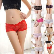 Womens See Through Boxers Sexy Lace Briefs Panties Lingerie Knickers Underwear