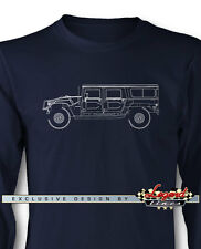 Hummer HUMVEE H1 Station Wagon Long Sleeves T-Shirt - Multiple Colors and Sizes