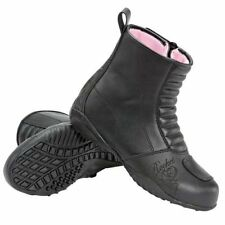 Joe Rocket Ladies Black Trixie Waterproof Leather Motorcycle Boots (5-10)