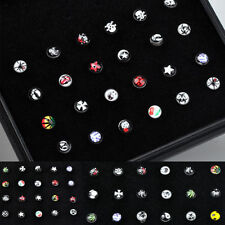 New Wholesale Body Jewelry Mix Lots Pierce Nose Studs Piercing+Display 7 Styles