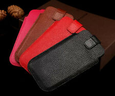 New Genuine Real cowhide Leather Pouch/Sleeve Case Cover For iPhone 6 6s 7 Plus