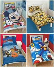 KIDS CHILDREN CHARACTER BOYS LEGO SONIC SINGLE BEDDING DUVET COVER SET.