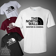 WINTER IS COMING NORTH WALL GAME OF THRONES INSPIRED T-SHIRT STARK NEW JON SNOW