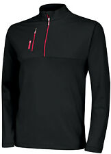 Adidas Golf Climalite Mixed Media 1/4 Zip Pullover Black Mens z94532 NWT