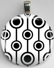 Handmade Interchangeable Magnetic Black and White Patterns #1 Pendant Necklace