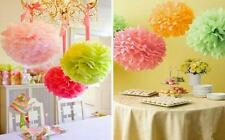 "2x 35cm 14"" Tissue Paper Pom Poms Wedding Party Home Favors Decoration Colours"