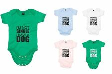 I'm Not Single I Have A Dog, Printed Baby Grow