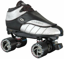 Labeda G80 G-80 Silver Streak Leather Quad Speed Roller Derby Skates