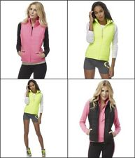 AEROPOSTALE WOMENS QUILTED ZIP ACTIVE VEST, NWT,$49.50,XS-XL, Pink,Black,Yellow