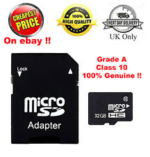 4GB 8GB 16GB 32GB SDHC Class 10 Micro Memory SD Card + Adapter, Case & Polybag