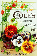 Cole's Garden Annual 1915 ~ Vintage Seed Catalog ~ Counted Cross Stitch Pattern