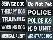 Velcro Patch for Julius K9 Harness LARGE Letters L-Z  NEW SERVICE DOG POLICE K-9