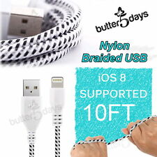 10FT Braided Nylon Data Sync USB Cable Charger Cord for iPad 4 Retina Air 5 Mini